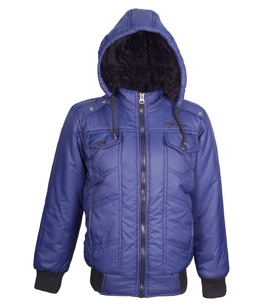 Naughty Ninos Boys Blue Solid Jacket