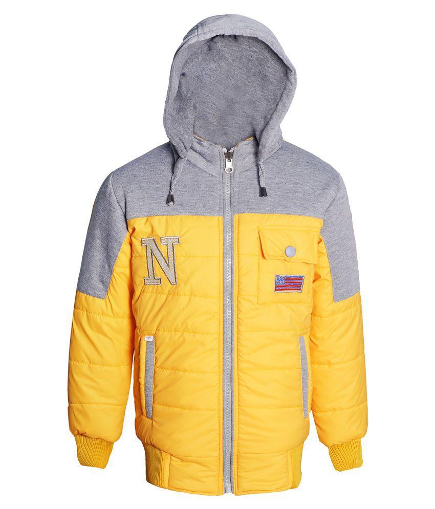 Naughty Ninos Girls Yellow Reversible Jacket