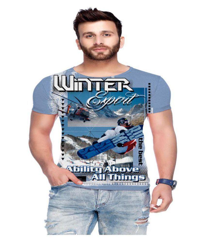 Raves Blue Half Sleeve T-Shirt