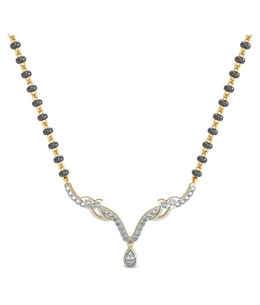 costozon 18k Yellow Gold Diamond Mangalsutra