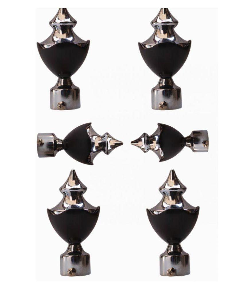 Diva Set of 6 Stainless Steel Single Rod Bracket
