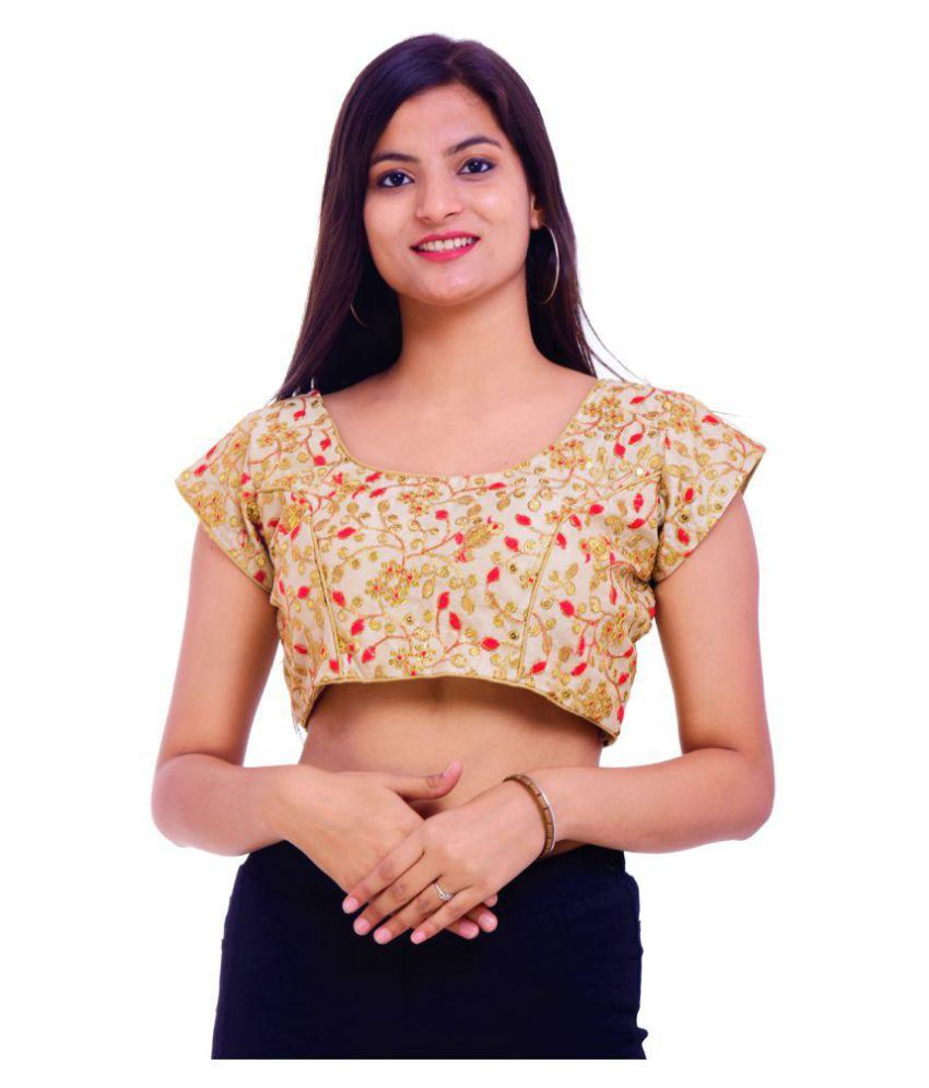Wow Multicoloured Silk Readymade with Pad Blouse