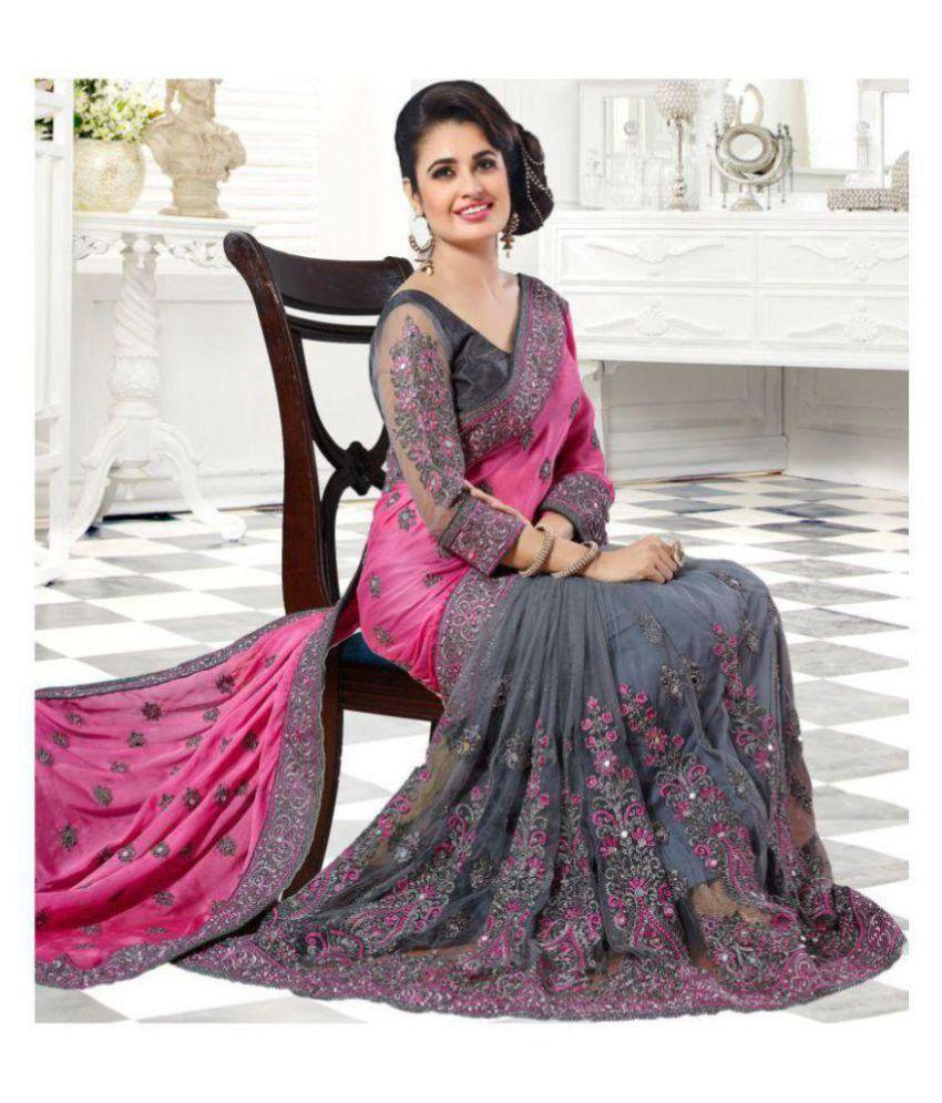 Rubeez Saree Designer Multicoloured Silk Blends Saree