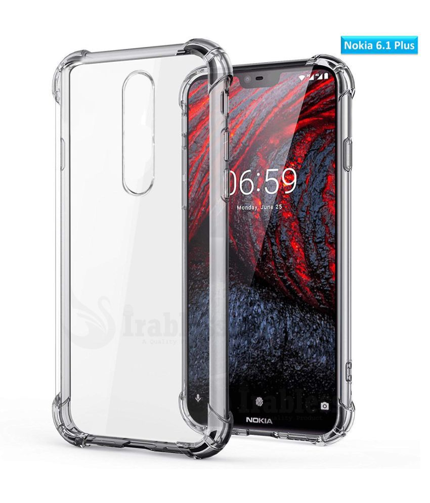Nokia 6.1 Plus Shock Proof Case IRABLESS - Transparent Shock absorption on sides and corners