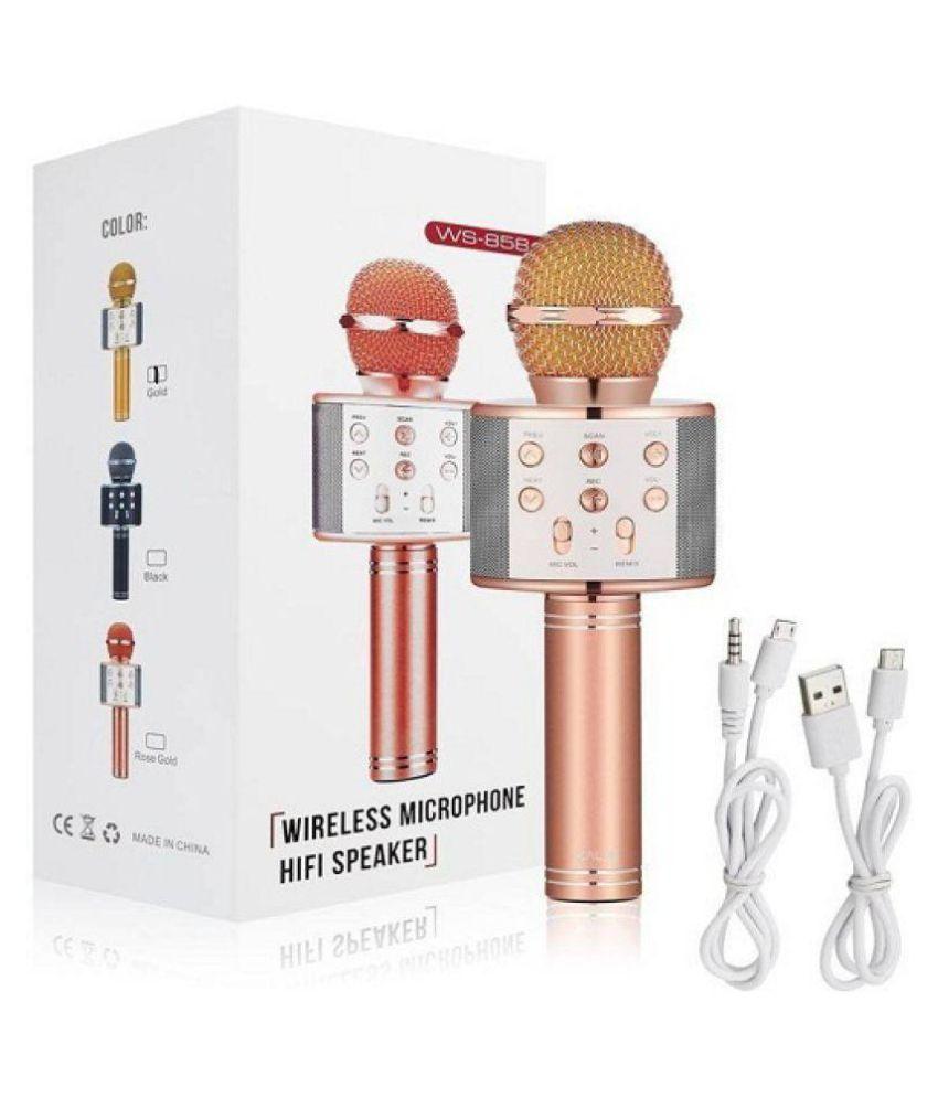 get e offer Ws858  Portable Wireless karaoke mic Wireless Microphones