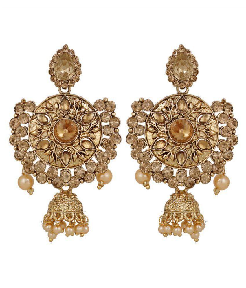 Piah LCT Gold Plated Drop Earrings Jumkhi for Women