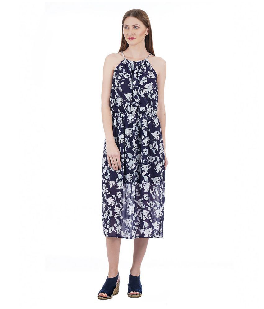 a374a2932 U.S. Polo Assn. Cotton Navy Wrap Dress - Buy U.S. Polo Assn. Cotton Navy  Wrap Dress Online at Best Prices in India on Snapdeal