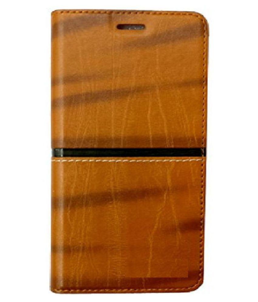 Lenovo K8 Flip Cover by Zocardo - Brown