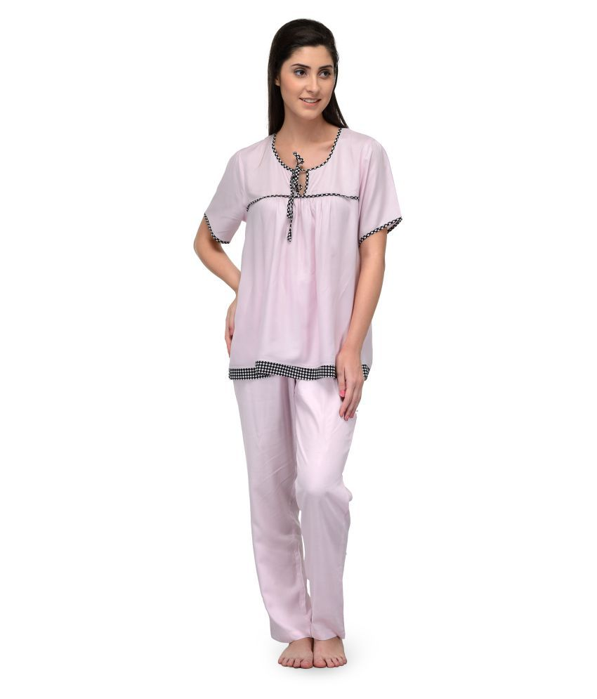 Patrorna Modal Nighty & Night Gowns - Pink