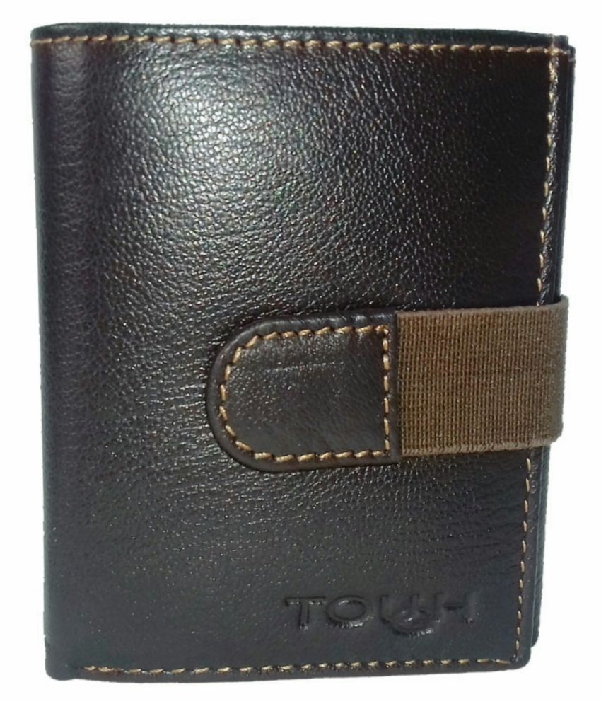 Tough Leather Brown Casual Regular Wallet