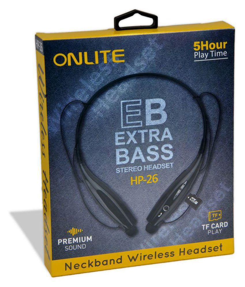 c7b3694ca67 Onlite HP - 26 Extra Bass Bluetooth Headset - Black - Bluetooth Headsets  Online at Low Prices | Snapdeal India