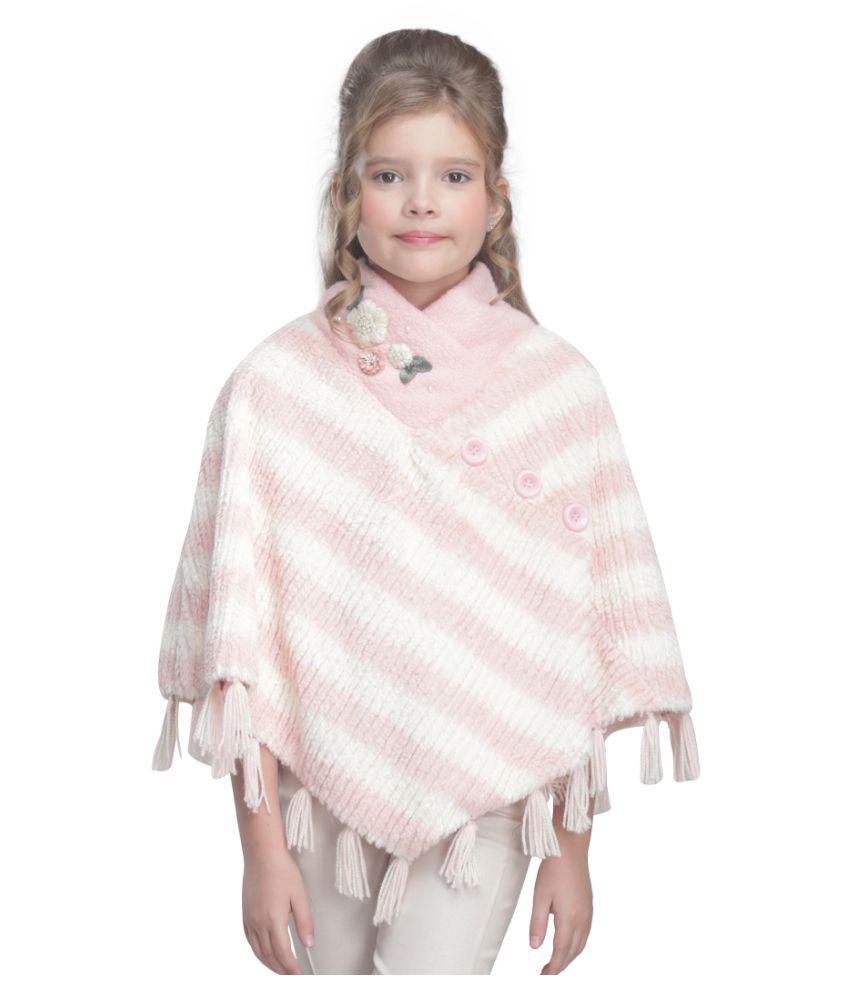 Cutecumber Girls Partywear Terry & Sweater Knit Poncho