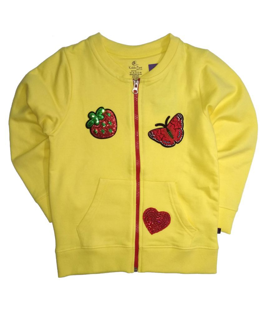 Front Open Raglan Sleeve Jacket With Butterfly Applique