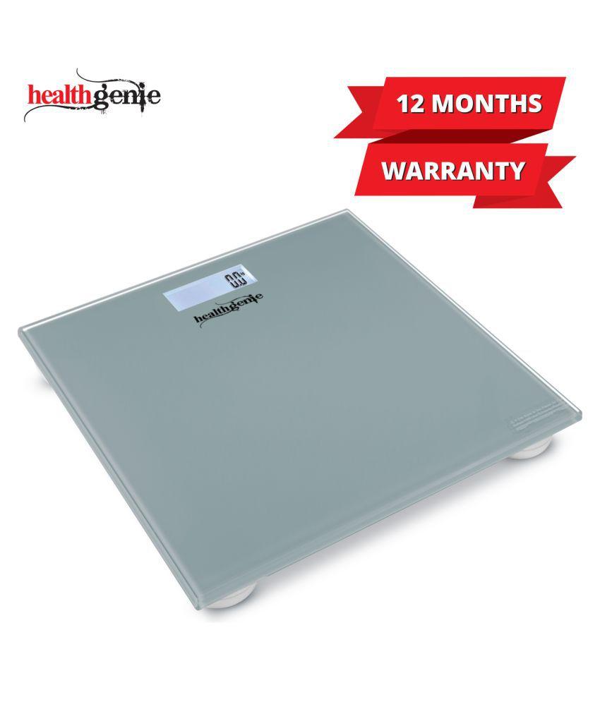 Healthgenie Digital Weighing Scale HD-221 - Silver Plain