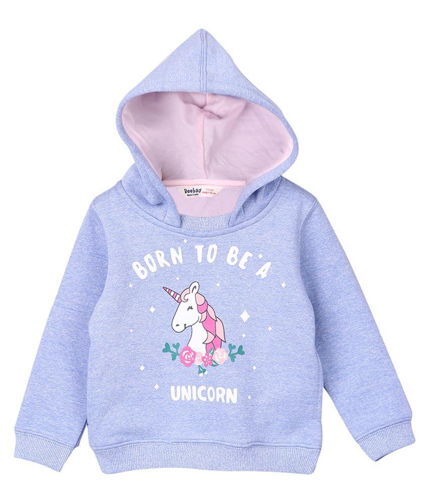 Unicorn Sweatshirt Light Blue 3-4Y