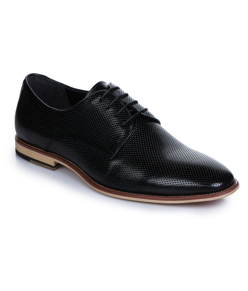Aber & Q Office Genuine Leather Black Formal Shoes