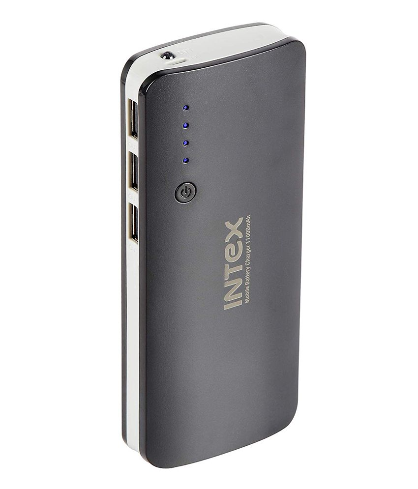 Intex it-pb11k 11000 -mAh Li-Ion Power Bank Black & Grey