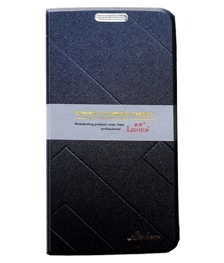 Samsung Galaxy A6 Flip Cover by Shanice - Blue Lishen Flip Cover