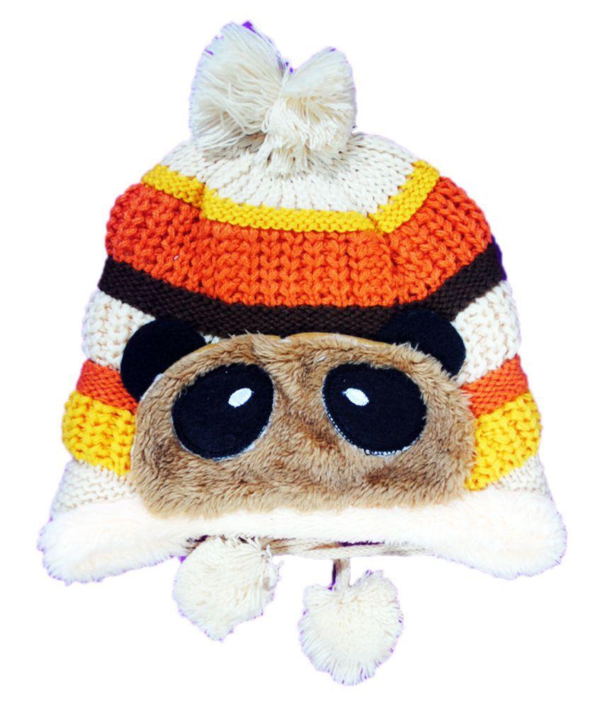 Kids Stylish Winter Cap/ Woollen Cap (Beige)