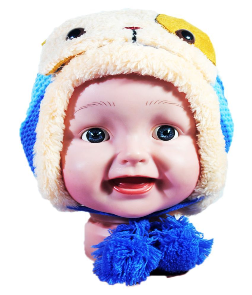 Kids Stylish Winter Cap/ Woollen Cap (Blue)