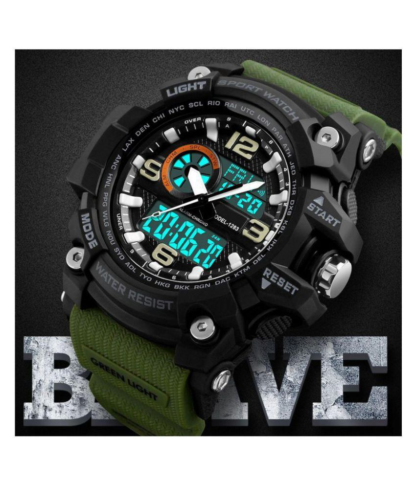 430c6a5887534 Skmei Sport Green PU Analog-Digital Men's Watch - Buy Skmei Sport Green PU  Analog-Digital Men's Watch Online at Best Prices in India on Snapdeal