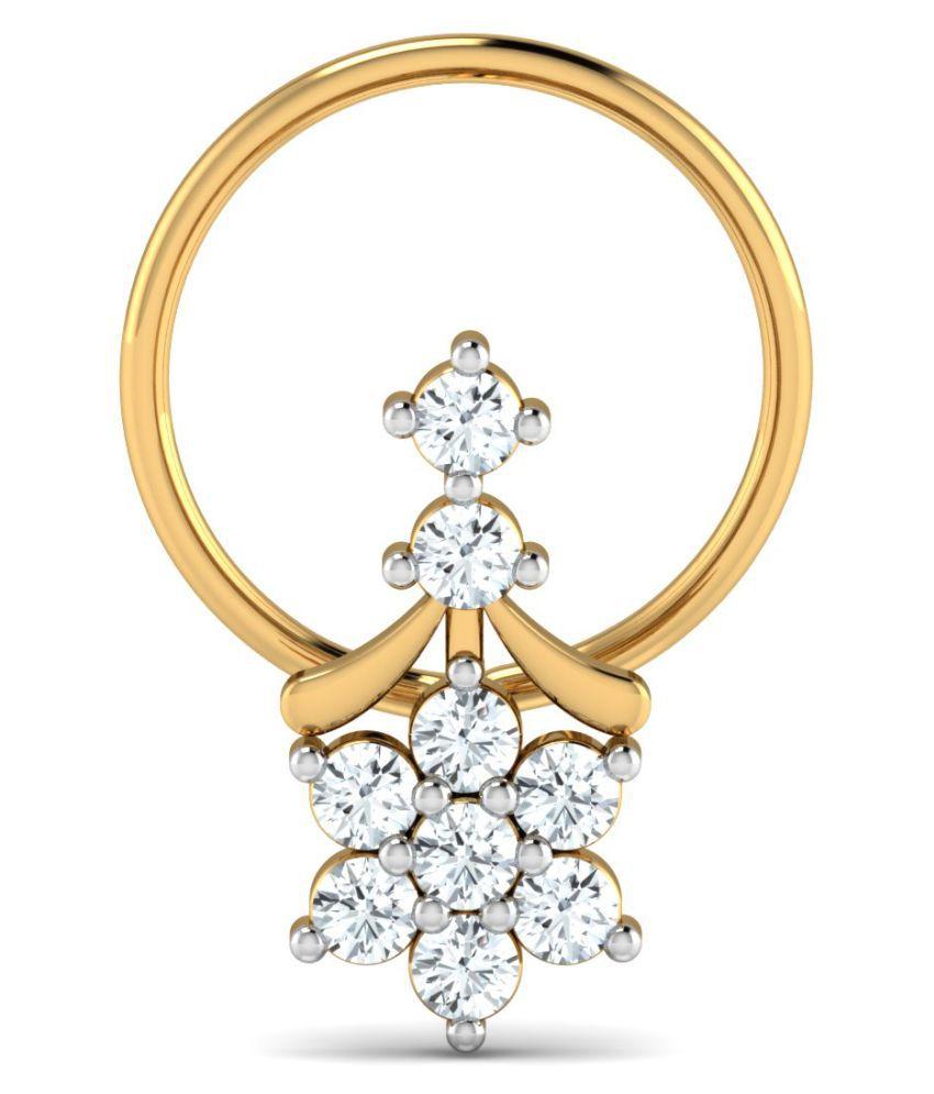 Costozon 18k Yellow Gold Nose Ring Buy Costozon 18k Yellow Gold