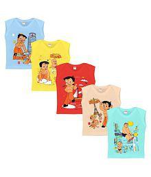 0e908212 Quick View. Luke and Lilly Baby Cotton Chhota Bheem Printed Sleeveless  Tshirt ...