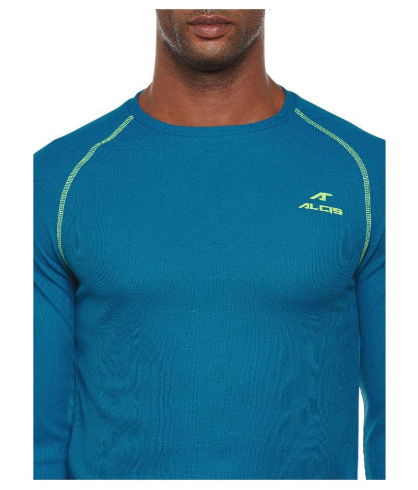 Alcis Blue Polyester Terry Sweatshirt Single Pack
