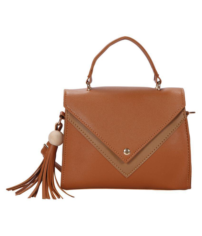 Bagkok Tan P.U. Handbags Accessories