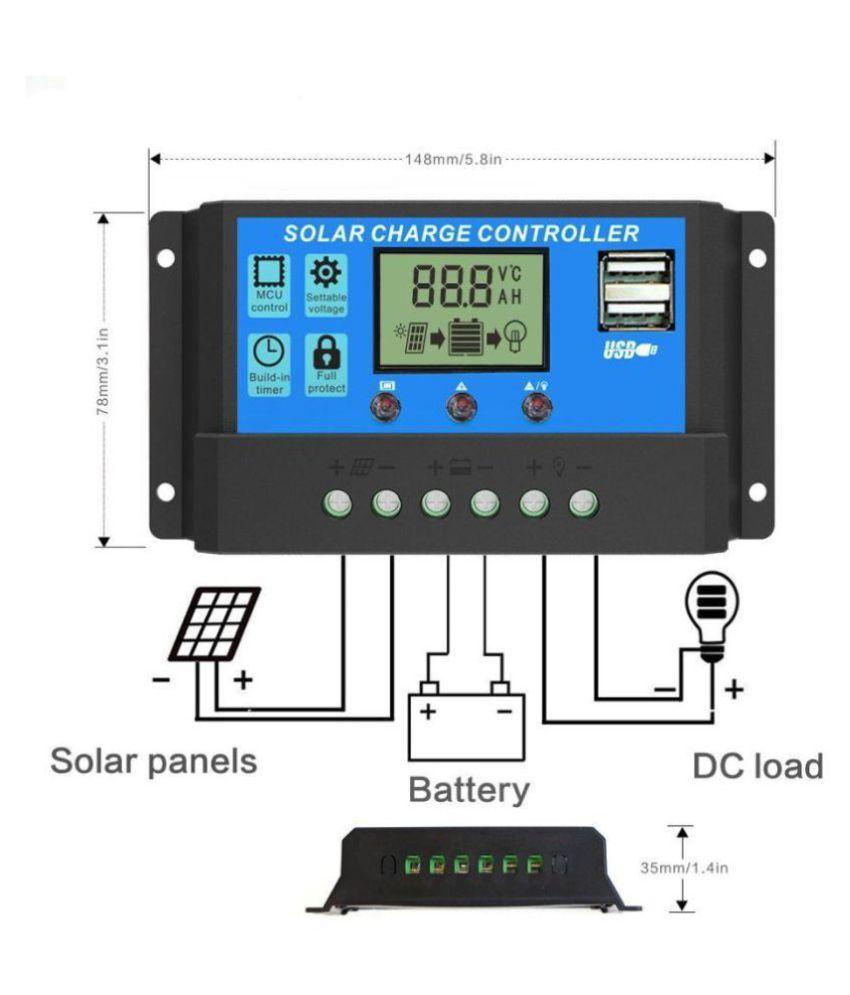 Techtest High Quality 30a 12v 24v Pwm Solar Charge Controller Dc Voltage Regulator Circuit Smart