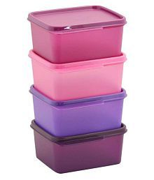 Tupperware keeptab Polyproplene Food Container Set of 4