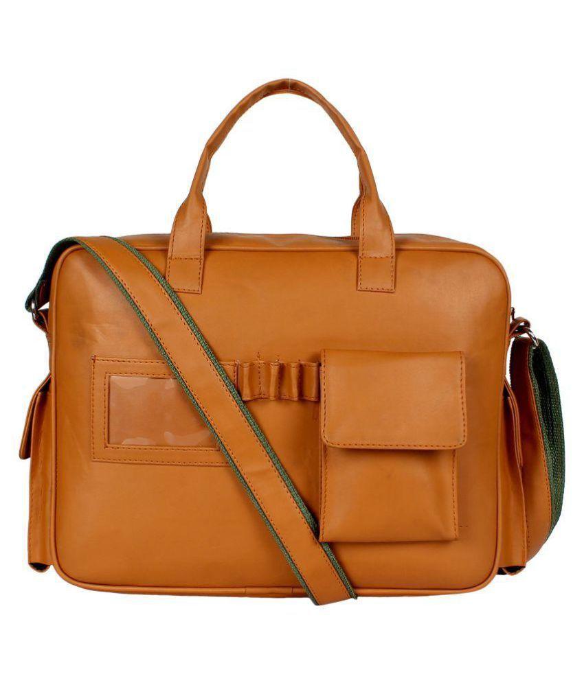 Zeppar Zeppar Tan P.U. Office Messenger Bag Tan P.U. Office Messenger Bag