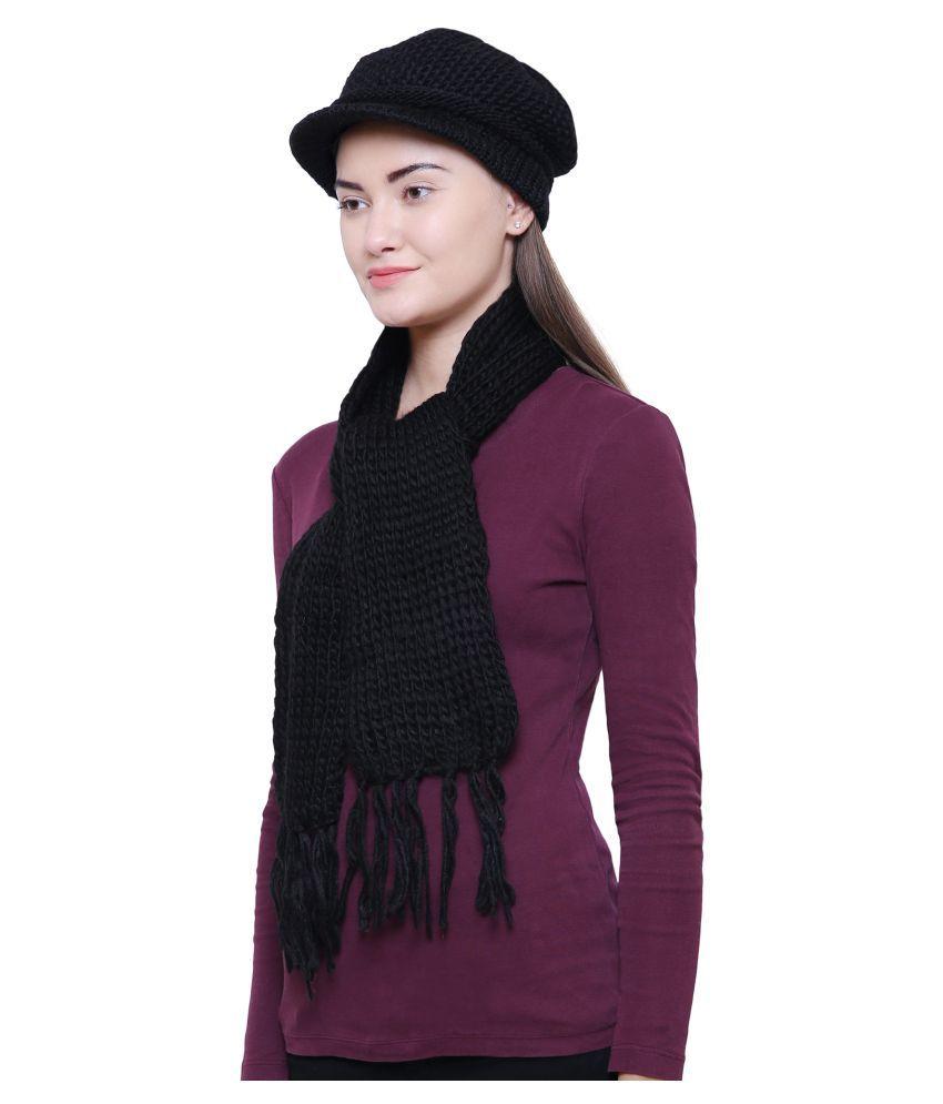 0178aa040 Loom Legacy Women s Combo pack of Winter Woolen Cap with Muffler ...