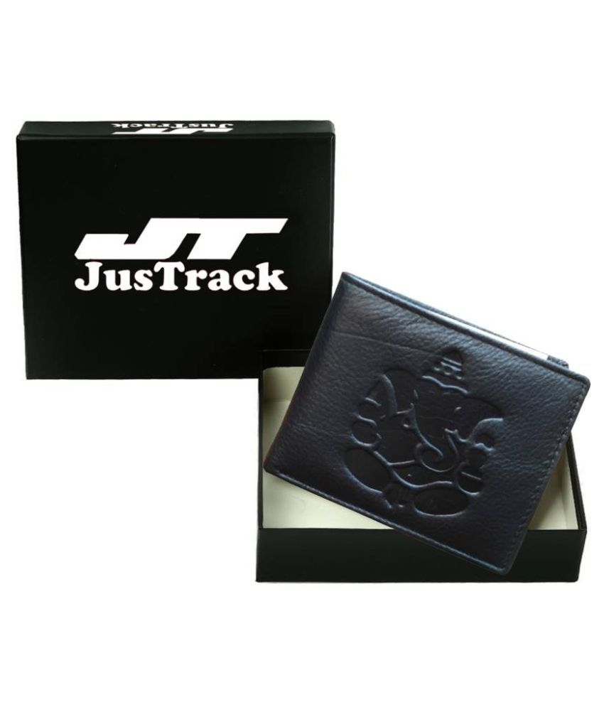 Justrack Leather Black Casual Money Clipper