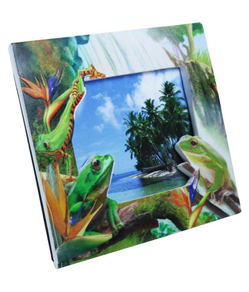 Fab5 Ceramic Green Single Photo Frame - Pack of 1