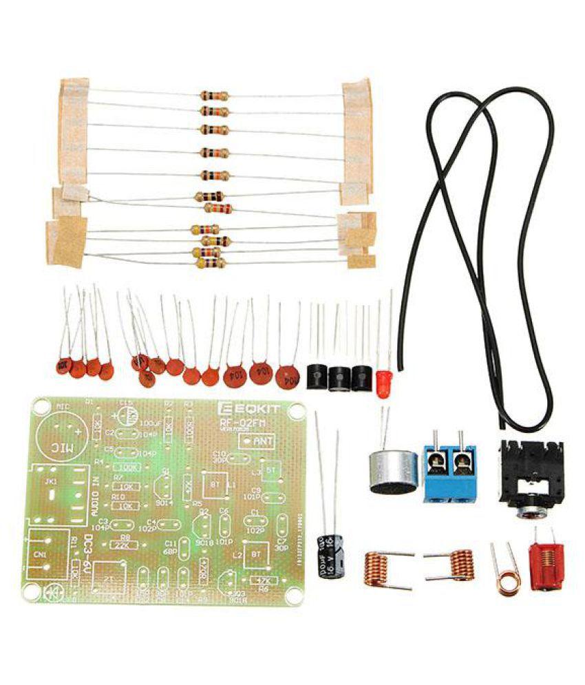 Buy EQKIT? FM Transmitter Kit RF-02 Wireless Microphone Parts MP3