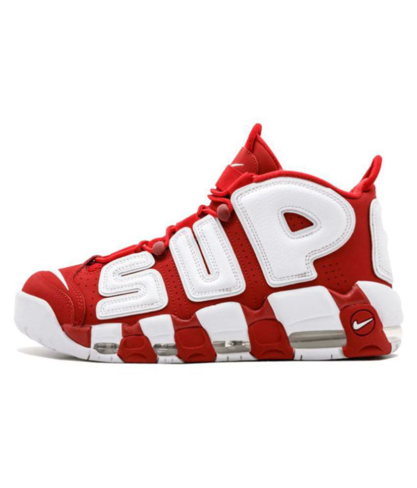 Nike Air More Uptempo X Supreme Red