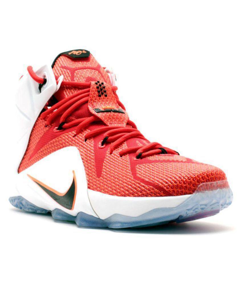 new product 8dd7e b50fa Nike Lebron 12 Red Basketball Shoes Nike Lebron 12 Red Basketball Shoes ...