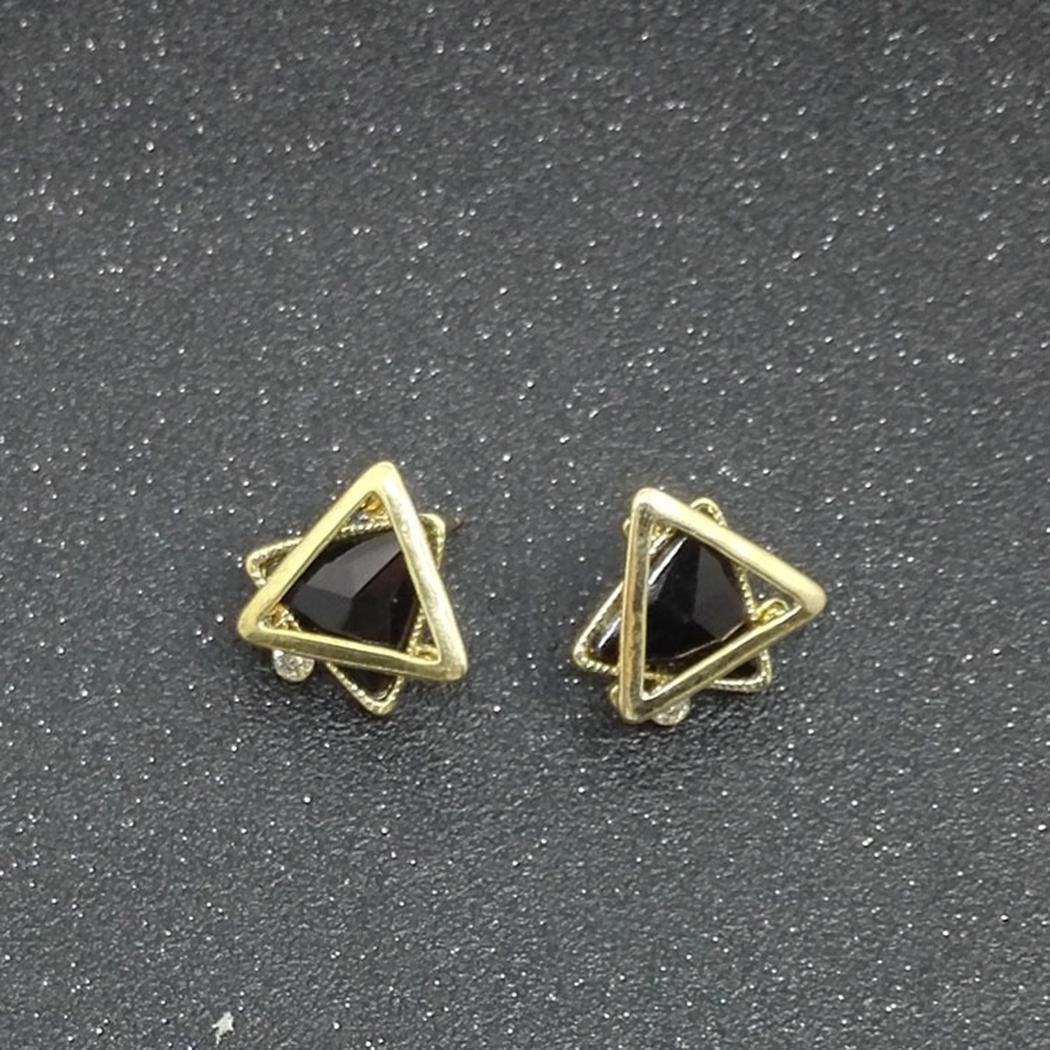 New Women Fashion Earrings Jewelry Trendy Artificial Crystal Earrings Charm Wedding Gift