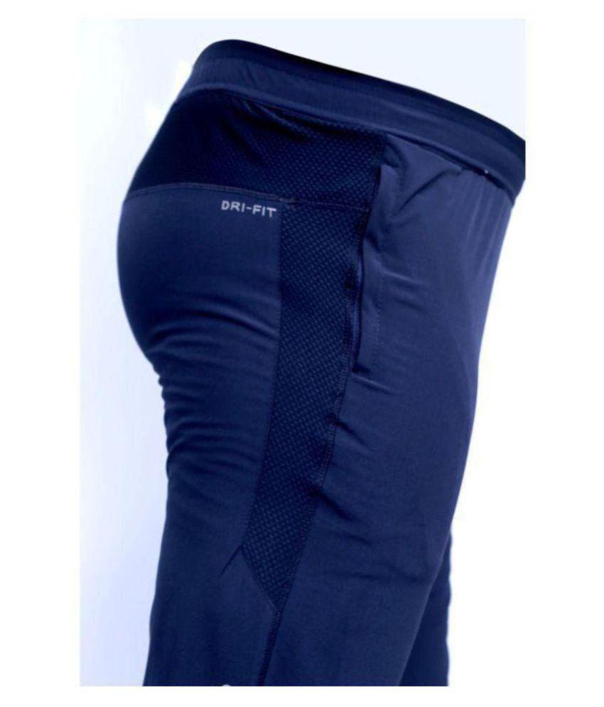 Raf n Taf Navy Polyester Lycra Trackpants Single