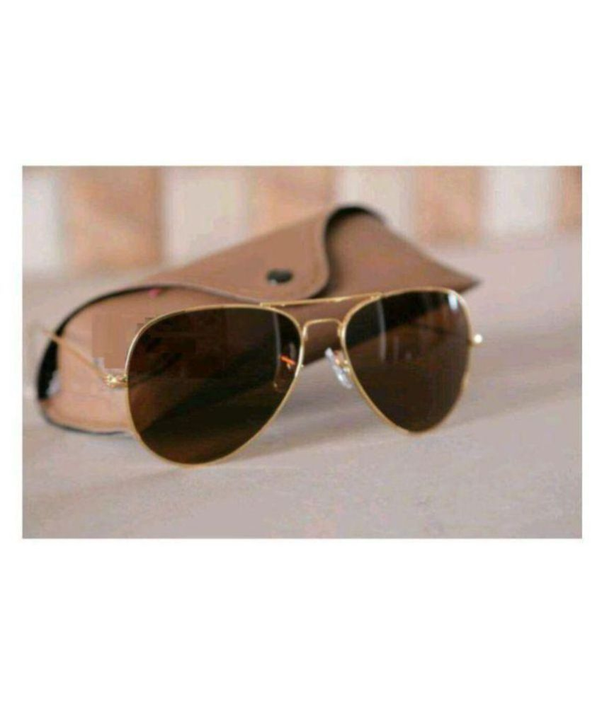 63e06547f654b RayBan Sunglass Brown Aviator Sunglasses ( GLDN ) - Buy RayBan Sunglass  Brown Aviator Sunglasses ( GLDN ) Online at Low Price - Snapdeal