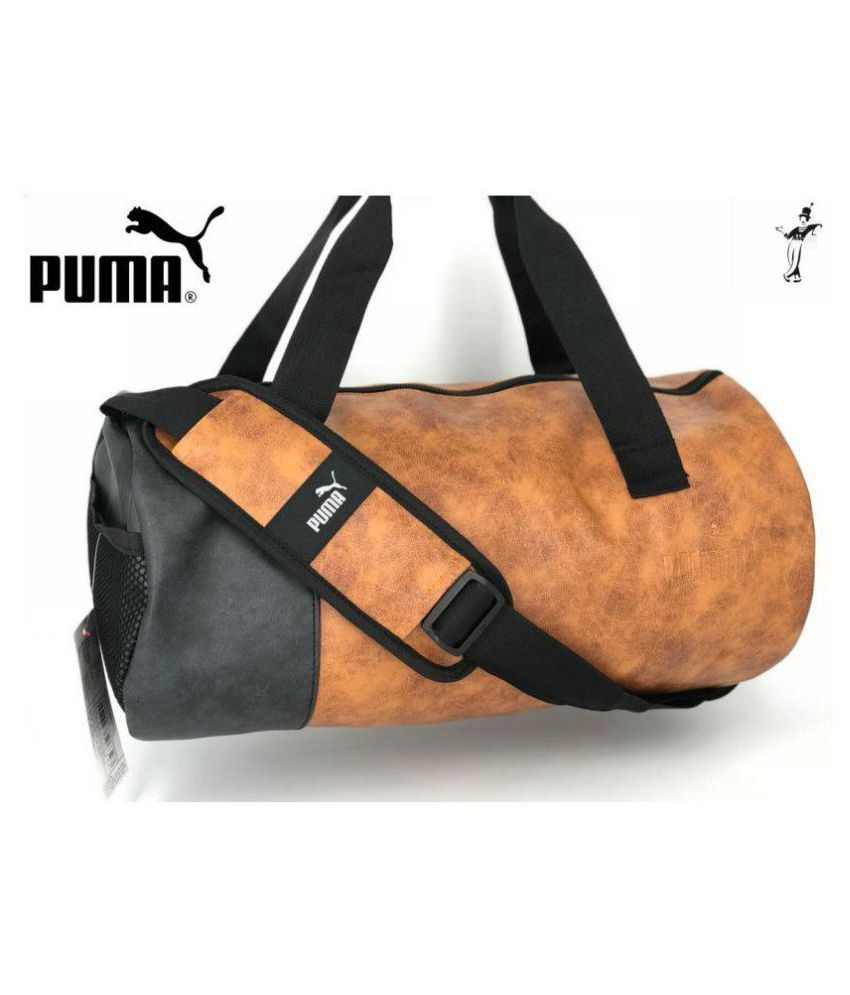 54c242ac6332f0 Puma Medium PU Leather Gym Bags Travel Duffle Cross Bag Leather Bag Men Man  Side Bag Gents Bag Men Side Bag Carry Bag Men & Women Gym Bag - Buy Puma  Medium ...