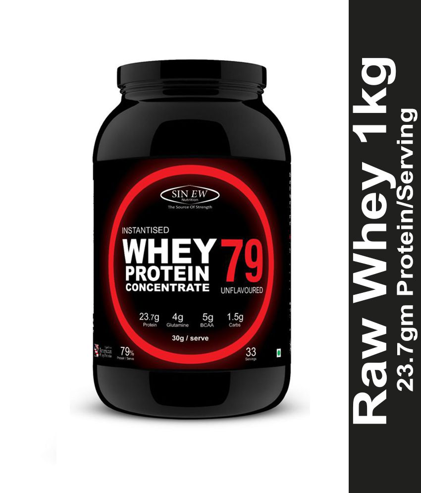 Sinew Nutrition Raw Whey Protein Concentrate 79% (Unflavoured) 1 kg