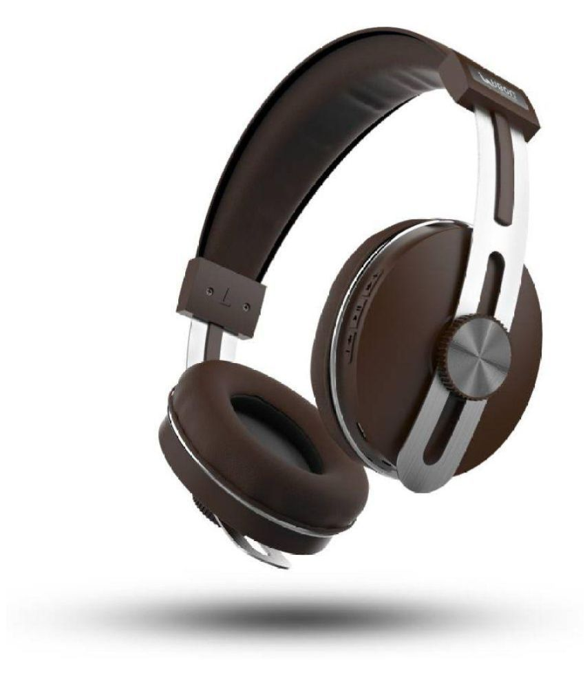UBON BT-5750 Brown Over Ear Wireless/Bluetooth Headphones With Mic (High Quality, 8 Hours back up, Extra Bass)
