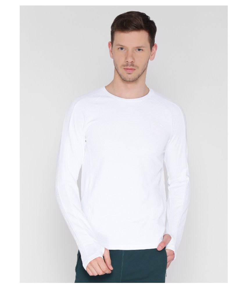 Alcis White Polyester T-Shirt Single Pack