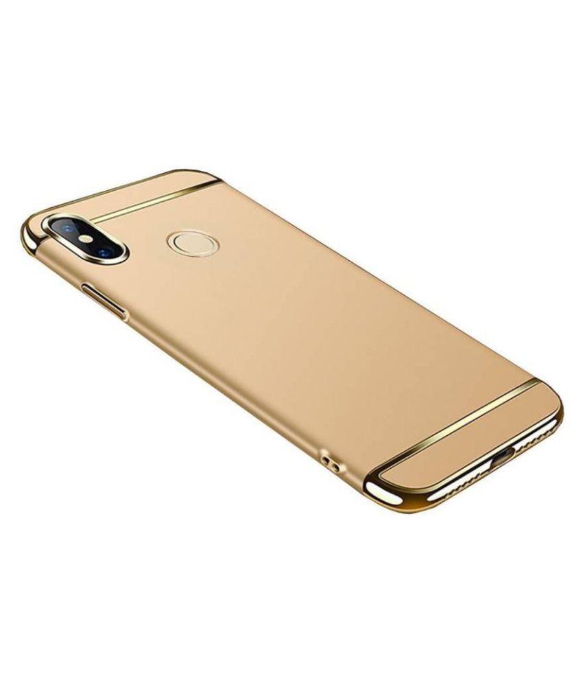 Samsung Galaxy J5 Prime Plain Cases Kosher Traders - Golden 3 In 1 chromium