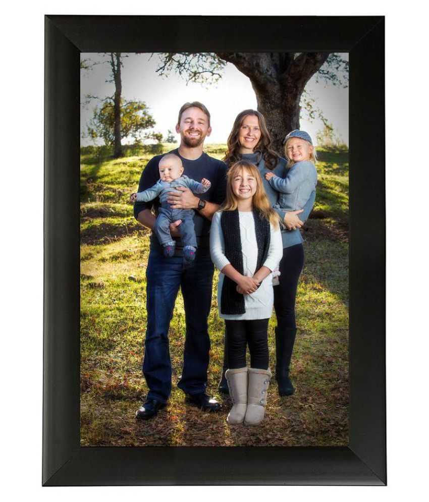 MAGIC GIFT Wood Table Top & Wall hanging Black Single Photo Frame - Pack of 1