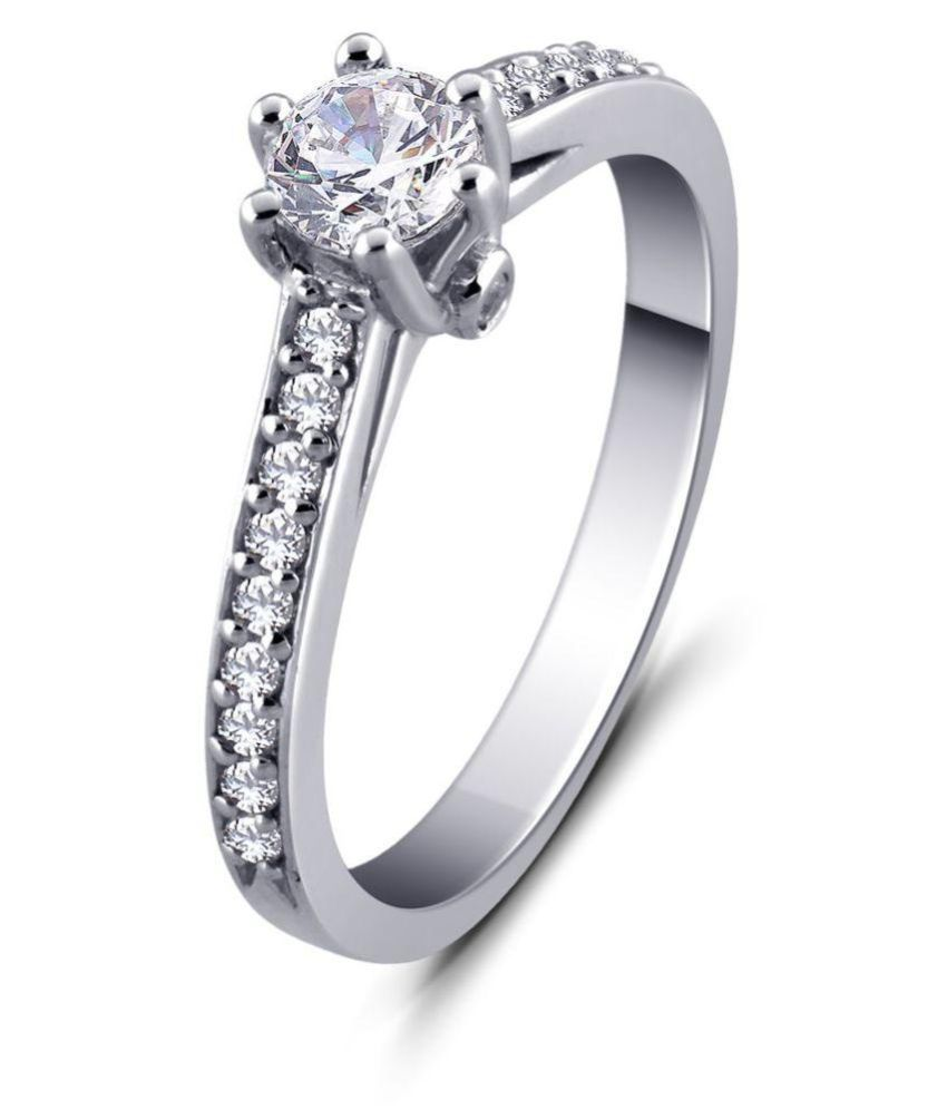 BALZO 92.5 Silver Cubic zirconia Ring