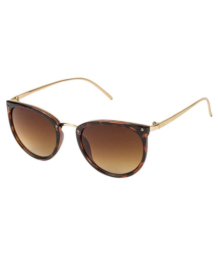 LOF Brown Cat Eye Sunglasses ( V-6237 )