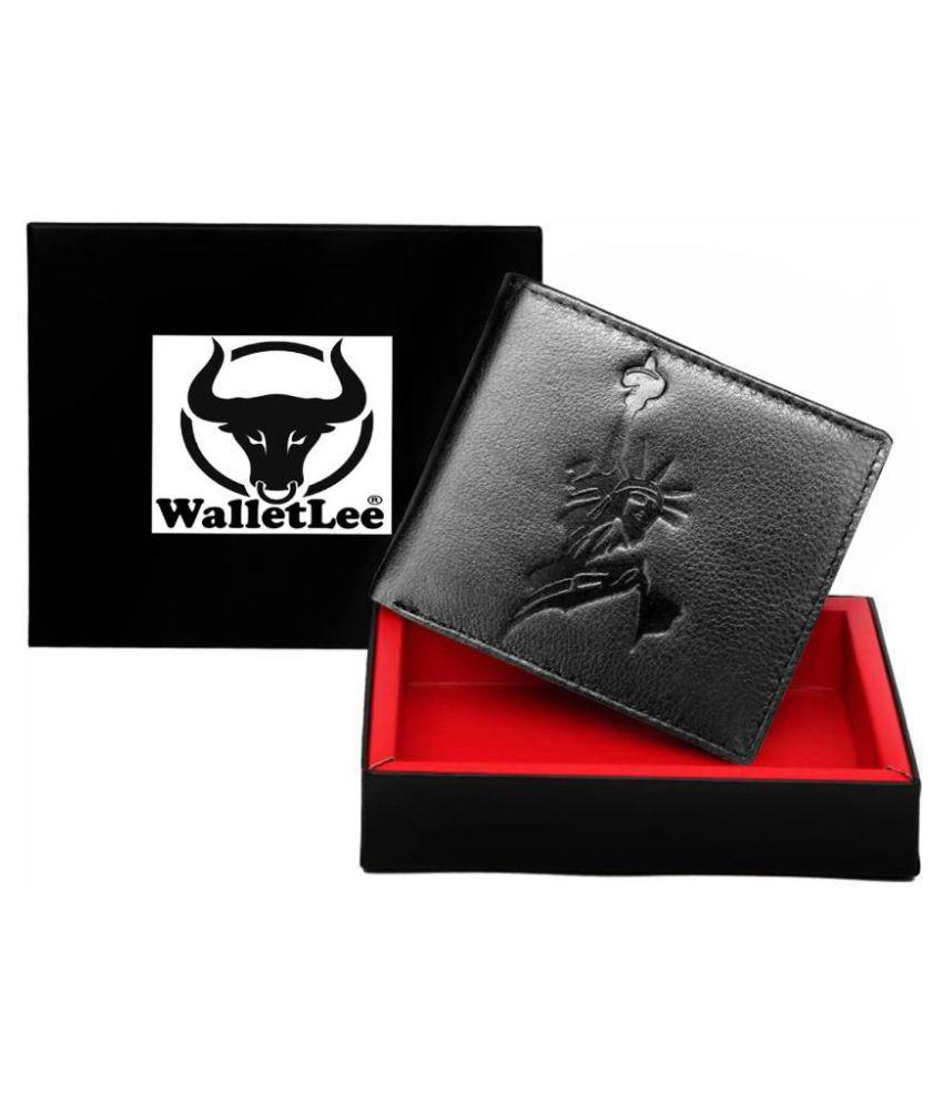 WalletLee Leather Black Casual Money Clipper